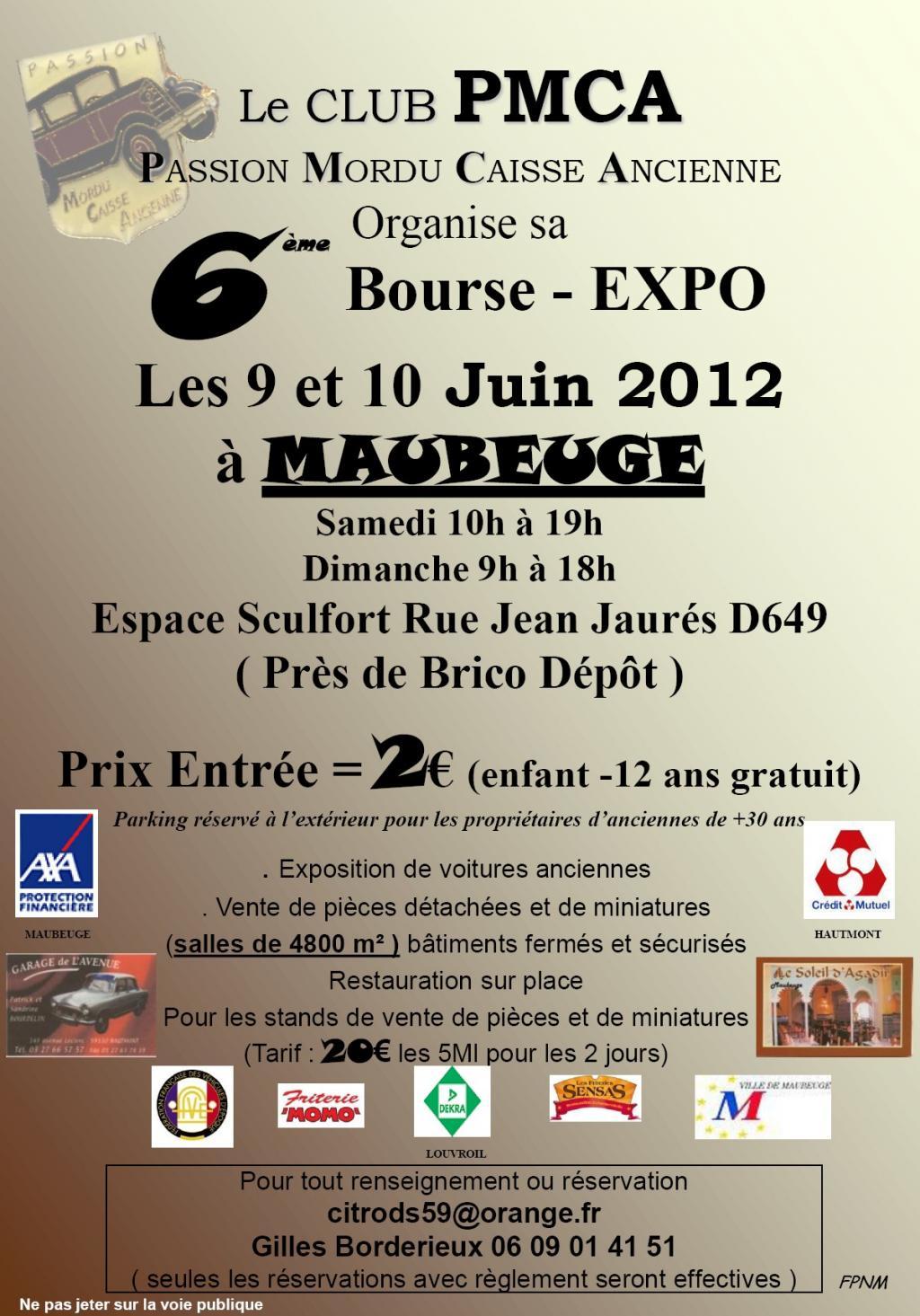 6 me bourse expo du club pmca maubeuge 59 09 et 10 juin for Bourse exterieur gratuit