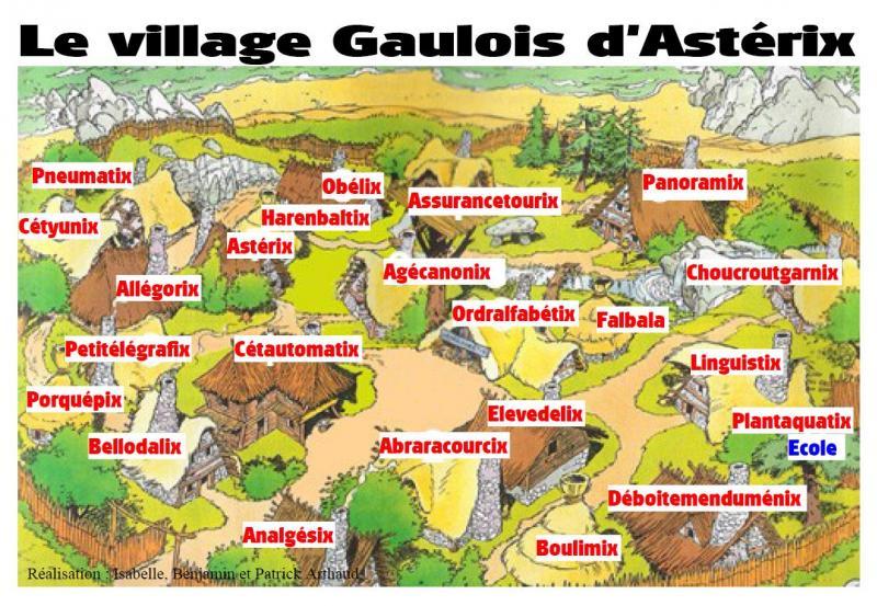 Le Village d'Astérix le Gaulois au 1/40  Asterix-implantation-village-2e3308e